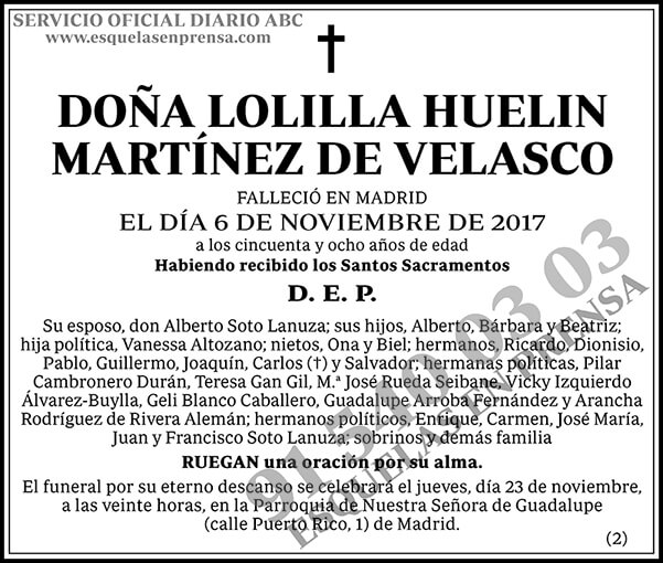 Lolilla Huelin Martínez de Velasco
